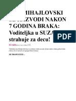 Ana Mihajlovski Se Razvodi Nakon 7 Godina Braka