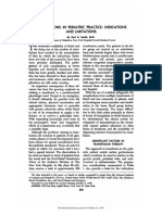 Transfusions in Pediatric Practice