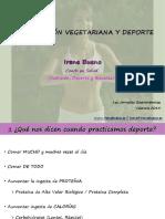 Alimentacion Vegetariana y Deporte Irene Bueno