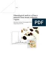 Mineralogical Analysis of Heavy Minerals