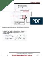 Multiplicateur de Pression - Principe CORRIGE