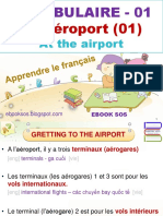 Vocabulaire Français - 01 - A l'Aéroport (01) - Gretting to the Airport