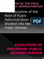 Evolution of Philippine Public Administration