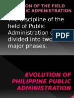 Evolution of Philippine Public Administration