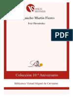 José Hernández. El gaucho Martín Fierro.epub