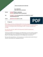 ACFE Fraud Examination Report (Short) (1)