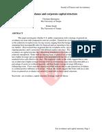 Tax Avoidance and Coporate Capital Structure ( Cristine Harrington )
