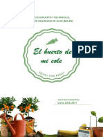 Proyecto Ecohuerto y Recapacicla CEPR 19 de Julio