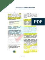 La Norma Internacional ISO IEC 17025