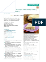 Eggless Vanilla Sponge Cake Using Curds ( Cakes and Pastries ) Recipe