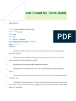 Whole Wheat Bread by Tarla Dalal