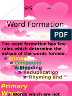 Rules on Word Formation