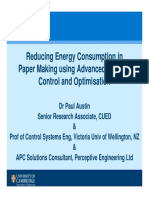 Reducing Energy Consumption in Paper Making Using APC and Optimisation