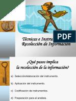 10. Tecnicas e Instrumentos de Recoleccion de Informacion Cuantitativa Russbel Hernandez UPNFM 2012