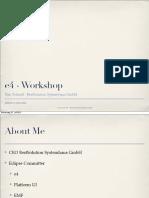 e4 Workshop