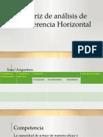 Matriz de Análisis de Coherencia Horizontal
