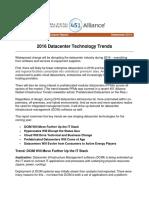 2016 Datacenter Technology Trends