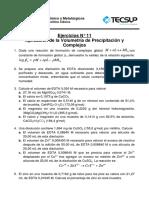 EJERCICIOS 11 - Aplicación de La Precipitación y Complejos
