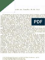 Neofiti 1 - Exodo - VI La Datación Del TargPal-PsDt 33,11