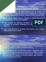 EL REGLAMENTO DE ORGANIZACIÓN Y FUNCIONES Y LA LEY DE MODERNIZACION DE LA GESTION DEL ESTADO (DIA.ppt
