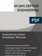 Sejarah Dan Definisi Engineering