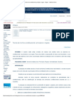 Teoria Da Norma Constitucional_ Princípios e Regras - Artigos - Conteúdo Jurídico