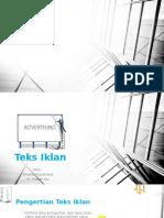 Teks Iklan )PDF)