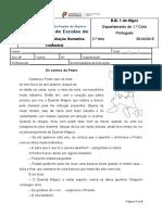Ficha de Português Sumativa Trimestral -Adaptada - Religião - 2014-15