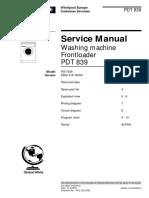 Whirlpool Polar Pdt 839 Service Manual