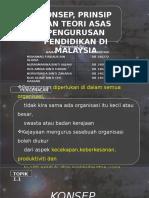 Konsep, Prinsip Dan Teori Asas Pengurusan Pendidikan Di Malaysia