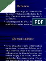 o11i Post Partum Hemoerhage