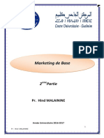 Marketing  de Base Partie 2 Semestre 3