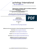 An Examination of Peer Relationships of Children With and Without Attention