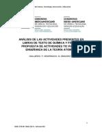 Análisis de Las Actividades Presentes en Libros de Texto de Química y Física y Propuesta de Actividades Tic Para La Enseñanza de La Teoría Atómica