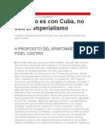 Jorge Altamira - El Futuro Es Con Cuba, No Con El Imperialismo