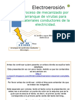 Electroerosión Power Point del Resumen.