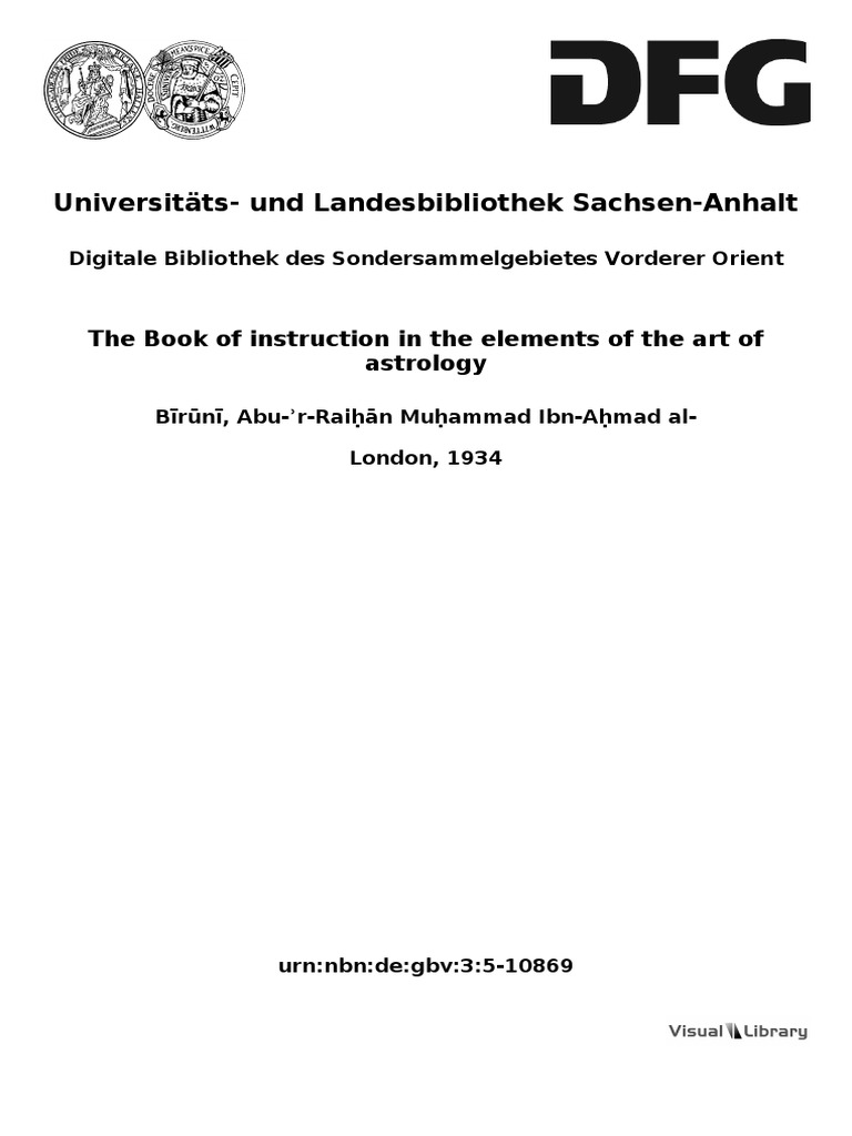 Arab Biruni v3 the Book of Instruction on the Elements of the Art of