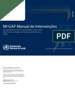 Manual MhGAP de Intervenções Para Transtornos Mentais