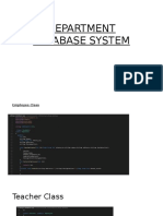 Department Database System