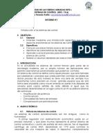 sistemas de Control-Informe Capitulo Uno