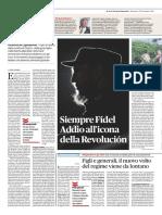 Fidel_ Il Fatto Quotidiano - 27 Novembre 2016