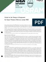 Osram HBO Guide for Design of Equipment Brochure 1975