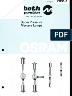 Osram HBO Super Pressure Mercury Lamps Catalog 1977