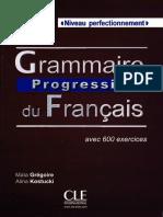 LIVRE Grammaire Progressive Du Fran 231 Ais - Niveau Perfectionnement
