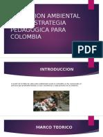 Educacion Ambiental Como Estrategia Pedagogica Para Colombia