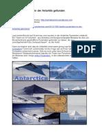 Antike Pyramiden in Der Antarktis Gefunden
