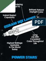 Osram HQI Power Stars Lamps Brochure
