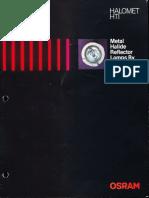 Osram HTI Halomet Metal Halide Reflector Lamp Brochure 10-84