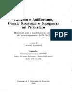 Fascismo e Antifascismo Parte 5 Cronologia e Indice