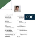 Curriculum Jonathan